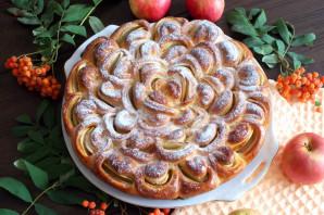 "Пирог ""Хризантема"" с яблоками - фото шаг 16"