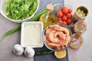 Салат с креветками и брынзой - фото шаг 1