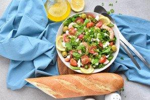 Салат с креветками и брынзой - фото шаг 6