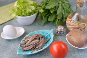 Салат с анчоусами и рукколой - фото шаг 2