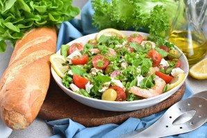 Салат с креветками и брынзой - фото шаг 7