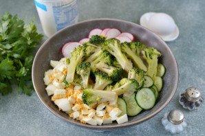 Салат из брокколи и редиса - фото шаг 5