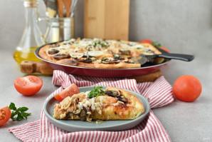 Пицца с креветками и грибами - фото шаг 11