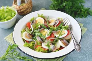 Салат с анчоусами и рукколой - фото шаг 7