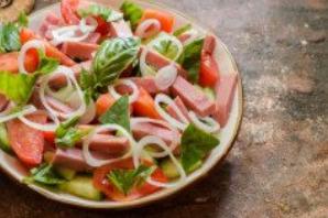 Салат с ветчиной, помидорами и базиликом - фото шаг 6