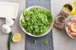 Салат с креветками и брынзой - фото шаг 3