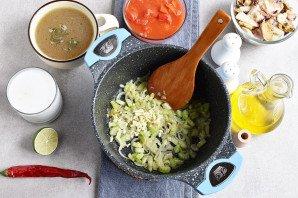 Суп из коктейля морепродуктов - фото шаг 3