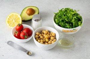 Салат с рукколой и нутом - фото шаг 1